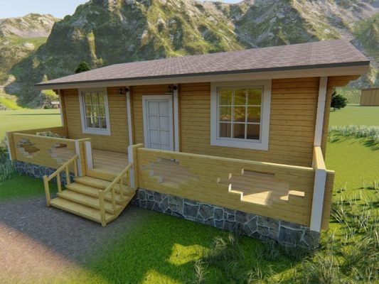 Дом из профилированного бруса 10х9