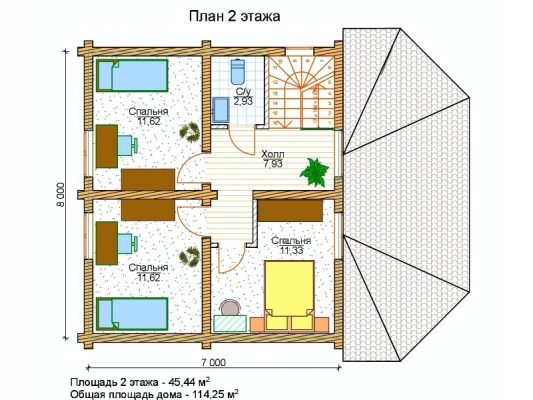 Дом из оцилиндрованного бревна 240 мм